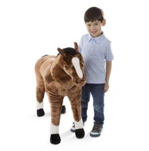 """בובת סוס ענקית 90 ס""""מ - מליסה ודאג"""
