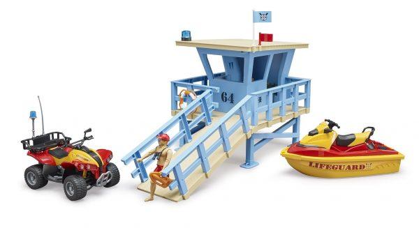 תחנת מציל עם טרקטורון ואופנוע ים - ברודר 62780