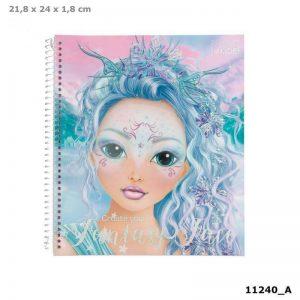 טופ מודל - חוברת צביעה עיצוב פנים Fantasy